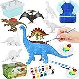 ARANEE Dinosauri di Pittura per Bambini, DIY Pittura Dinosauro Kit, 3D con Dinosauri Kit di Pittura per Bambini creatività Artigianale Regalo di Compleanno di Natale Fai-da-Te per Bambini