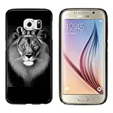 x laser mobile - Galaxy S6 Case, Laser Technology for Protective Samsung Galaxy S6 Case Black DOO UC (TM) - The Lion King