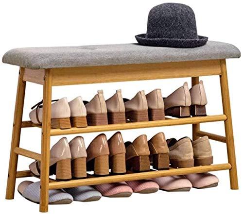ZouYongKang 2 Niveles de Plataforma de Plataforma de Estante de Madera, estantes de Almacenamiento de Zapatos para estantes de Zapatos Planos de pie Gratis Estilo clásico, Cambio de Almacenamiento de