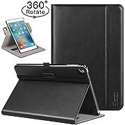 Ztotop iPad Mini 4 Swivel Case, [360 Rotating] Genuine Leather Folio Stand Case Cover with Multi-Angle Viewing, Pocket, Auto Wake/Sleep for iPad Mini 4 - Black