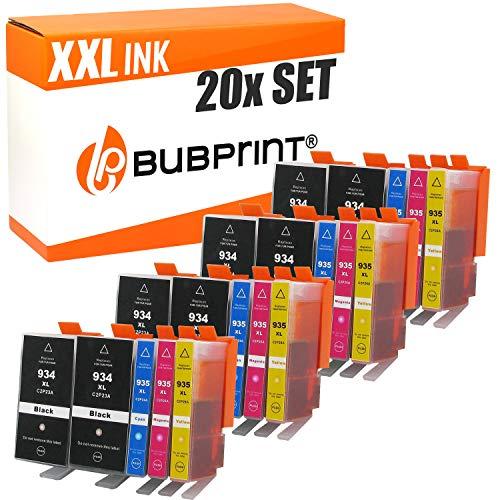 20 Bubprint Druckerpatronen kompatibel für HP 934XL 935XL für OfficeJet Pro 6200 6230 6235 6239 6800 6812 6815 6820 6822 6825 6830 6835 Schwarz Cyan Magenta Gelb Multipack