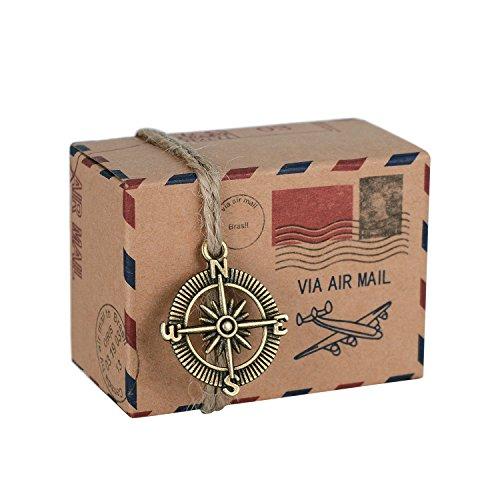 Wolfteeth 100 pz Scatoline Portaconfetti Confetti scatole Regalo Bomboniere per Laurea Festa