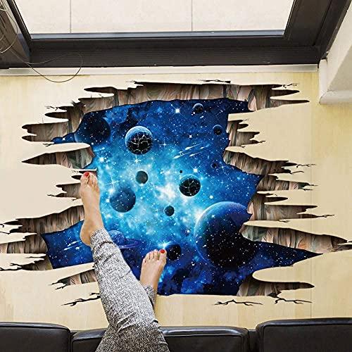 Espacio Cósmico Abstracto 3D Pegatina De Suelo Decoración Del Hogar Habitación De Niños Calcomanías De Dormitorio Pegatina De Pared 110X67Cm