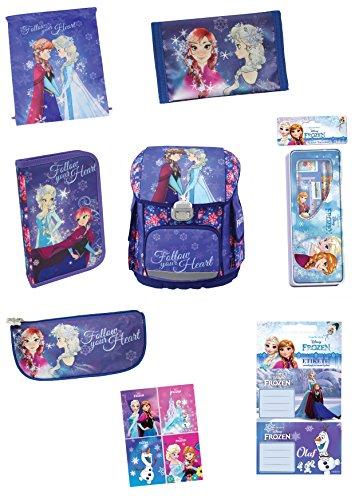 Exclusiv*11tlg. Disney Frozen Eiskönigin Schulranzen Set Mädchen Schulranzen EDEL 2017