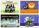Assorted Halloween Postcards - 4 x 6 Happy Halloween Postcards - 40 Halloween Postcards (Assorted)