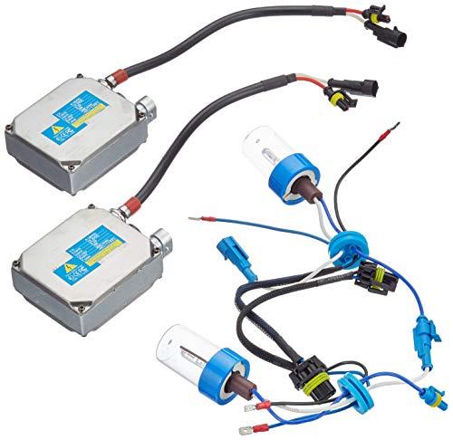 Akhan Digital 9-32V 35W CANBUS Xenon Kit Nachrüstsatz H1 12000 Kelvin inkl. HID Vorschaltgerät, Xenon Brenner Lampe und Montage Material ohne Fehlermeldung und ohne Flackern