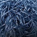 CHICIEVE Papel de seda triturado 200 gramos de papel de relleno de rafia para cesta y caja de relleno de regalo, embalaje, decoración de regalo suministros de fiesta (azul oscuro)