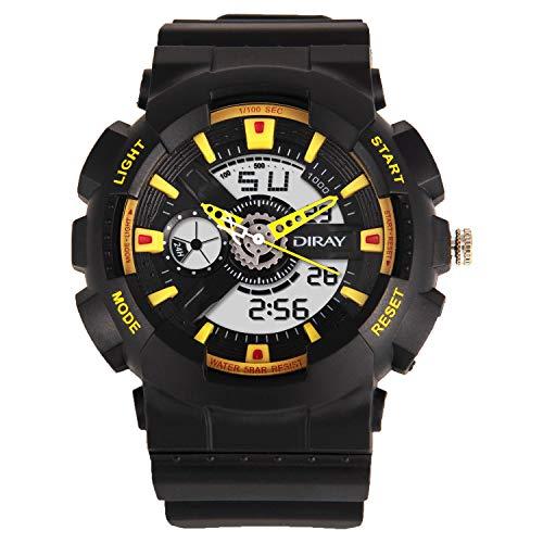 DIRAY Digital Sportuhr Wasserdicht Outdoor Sports Digitaluhren Analog Armbanduhr mit Wecker/Timer