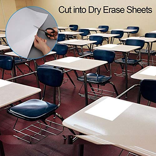 Whiteboard Sticker, Dry Erase Sheets, Whiteboard Paper, Peel and Stick White Board for Wall/Table/Door/Fridge, Office, School, Kids Painting, 1.5 x 10.8 ft, Super Sticky, Stain Proof, 3 Markers Photo #6