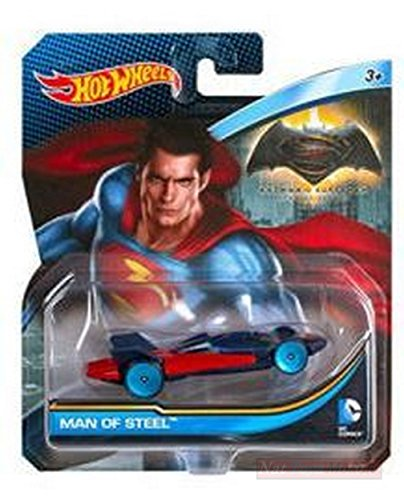 Hot Wheels HWDKJ79 Man of Steel Car Batman V Superman DC Comics 1:64 Die Cast Compatible con
