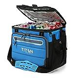 TITAN Nevera portatil Capacidad 40 latas + Hielo 1330878 5 Capas de Aislamiento. hasta 2 dias de conservacion del Hielo. Color Azul.