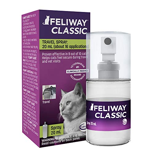 CEVA Animal Health Feliway Cat Calming Pheromone Spray (20ML) | No 1 Vet Recommended Solution | Reduce Anxiety for Vet Visits, Travel, Loud Noises and More