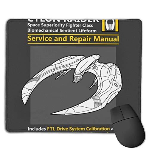 Battlestar Galactica Cylon Raider Service- und Reparaturhandbuch Designs rutschfeste Gaming-Mauspads auf Gummibasis für, 22 cm & mal, 18 cm, PC, Computer. Ideal zum Arbeiten oder Spielen