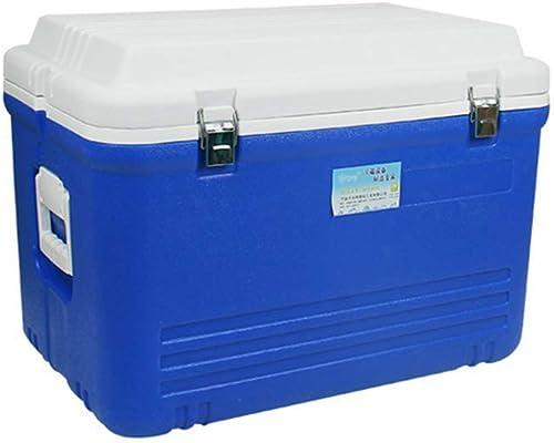 AGQLT Glacière Fresh Box extérieur Refroidisseur d'unité Centrale de Voiture 65L Médicament Médical Réfrigérateur Boîte de Transport de la chaîne du Froid 59,5  39,5  43CM