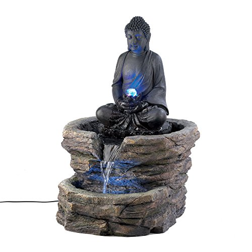 Koehler D1156 Light Up Zen Buddha Fountain, 29.375'