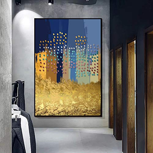 Imágenes Colgantes Mural HD Arte Abstracto geométrico Pintura en Lienzo Impresión de Arte de Pared para Sala de Estar Decoración del hogar (Sin Marco) Impresión en Lienzo Decoración del Pasillo