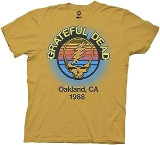 Grateful Dead Adult Unisex Oakland 88 Light Weight 100% Cotton Crew T-Shirt