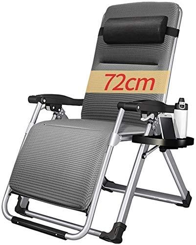 Aoyo - Silla reclinable para jardín, reclinable de gravedad cero, reclinable, apta para porche, jardín, terraza, césped, silla de camping portátil, soporta 200 kg
