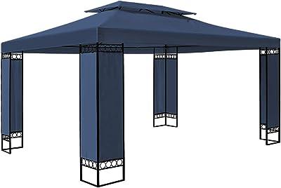 Deuba Carpa Elda Color Azul 3x4 m cenador de Exterior Grande ...