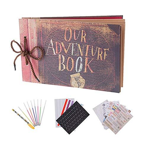 RECUTMS Our Adventure Book Scrapbook Pixar Up Handmade DIY Family Scrapbook Photo Album Expandable...