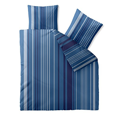 CelinaTex Harmony Bettwäsche 200 x 220 cm Mikrofaser Bettbezug Silvie Streifen Blau