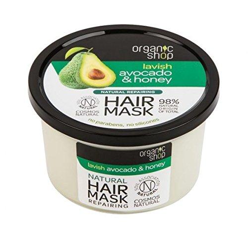 ORGANIC SHOP - Restrukturierende Avocado- und Honig-Haarmaske - für trockenes und strapaziertes...