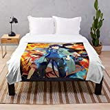 Animation Kyoto Fujouou Hen Fire War Anime Battle Sleeve Weapon - Anime- Blanket Premium Silky Smooth Printed Ultra-Soft Micro Fleece - Used for Home Beds, Sofas Bedrooms and Living Rooms I Customiz