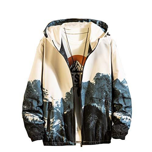 Chyoieya Hip Hop Hombres Chaqueta Moda Outwear Hombre Casual Streetwear Impreso Bomber Chaqueta Tops