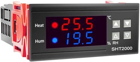 Andifany SHT2000 Controlador de Temperatura y Humedad Termostato Humidistato Incubadora de Cerveza para Interiores TermóMetro HigróMetro AC110-230V