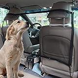 Mioke Red de Coche para Perros Mascota,Barrera Coche Protector de Seguridad de Perros Gatos, Universal 115cm*62cm con Ganchos y Cordones