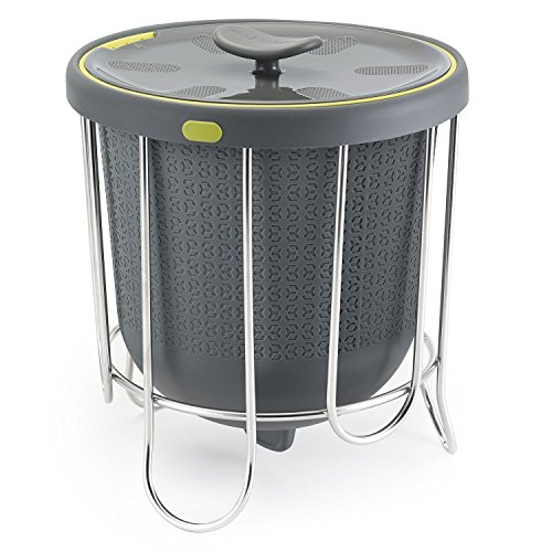 Polder Products Kitchen Composter Küchenkomposter, Silikon, grau, 24 x 21 x 21 cm