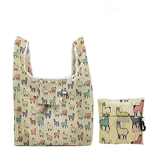 HYMD Borsa per la Spesa 2pcs Home Shopping Bags Organizzatore Bella Sacchetto di Verdure di Frutta Riutilizzabile (Color : 4 UK, Size : 55x36 CM)