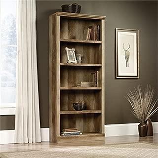 Bowery Hill 5 Shelf Bookcase in Craftsman Oak