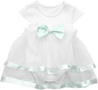 LANSKIRT_Ropa de bebé, LANSKIRT Vestido Bebé Recién Nacido Niñas Vestido de Princesa sin Mangas con Estampado de Lazo para Bebé Vestido de Halo Tutu