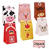 Farm Animal Candy Bags Barnyard Party Favor Treat Goody Gift Bags for Farm Theme Birthday Party Classroom Baby Shower Supplies
