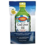 Carlson - Cod Liver Oil Travel Packets, 1100 mg Omega-3s, Norwegian Cardiovascular Function