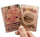 Mew GX Full Art Rose Gold Metal Custom Pokemon Card