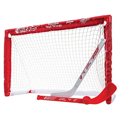 Franklin Sports NHL Team Lizenzprodukt Knie-Hockey-Set–inkl. 2Mini Hockey Sticks und One Schaum Mini Hockey Ball, Unisex, Detroit Red Wings