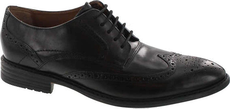 Bostonian Men's Garvan Edge Oxfords Shoes,Black Leather,8.5