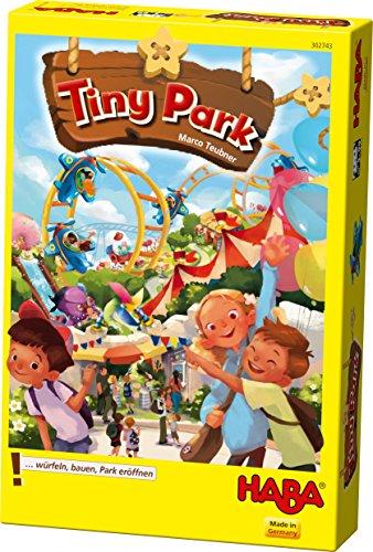 HABA 302743 -Tiny Park | Leicht verständliches Würfelspiel für die ganze Familie | Gesellschaftsspiel für 2-4 Personen| Spiel ab 5 Jahren