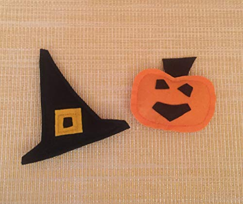 Halloween Pumpkin and Witch Hat Catnip Cat Toys