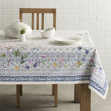 Maison d' Hermine Faïence 100% Cotton Tablecloth 60 - Inch by 60 - Inch