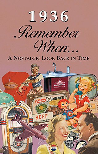 1936 Remember When: 24 Page Booklet/Greeting Card