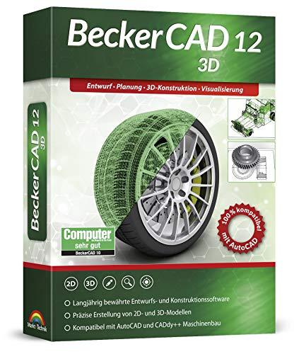 BeckerCAD 12 3D - CAD-Software und 3D-Zeichenprogramm für Architektur, Maschinenbau, Modellbau und Elektrotechnik - kompatibel mit AutoCAD - Programm für Windows 10, 8, 7