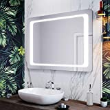 <span class='highlight'><span class='highlight'>ELEGANT</span></span> Modern Bathroom Mirrors 1000 x 700 mm Illuminated LED Bathroom Mirror Light Infrared Sensor   Demister