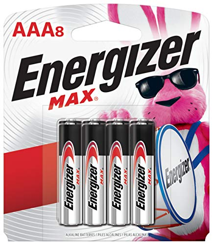 Energizer AAA Batteries (8 Count), Triple A Max Alkaline Battery - Packaging May Vary