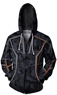 Jonikow Cosplay Tony Stark Thanos 3D Printed Hoodie Costume Mens Sweatshirt Jacket Zipper
