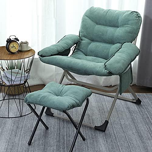 Sillón con Taburete,sillas Plegables para Sala de Estar,Silla Moderna de Silla de TV,Silla de Silla,Tumbona para jardín, balcón Relajarse.