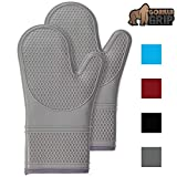 Gorilla Grip Premium Silicone Non Slip Oven Mitt Set, Soft Flexible Oven Gloves, Professional Heat...