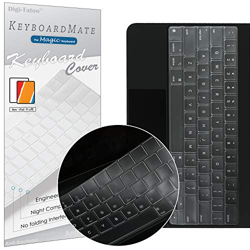 Digi-Tatoo MagicMate Keyboard Cover Protector Skin for Apple iPad Pro 11 inch (1st and 2nd Generation) and iPad Air 10.9 inch (4th Generation) Magic Keyboard, Premium Ultra Thin 0.18mm